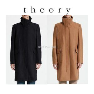 NWT THEORY wool & cashmere FUNNEL NECK COAT M